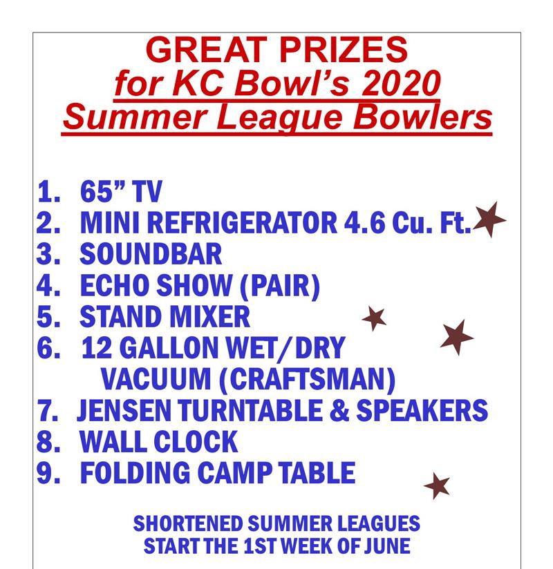 summer league prizes